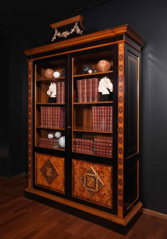 Книжный шкаф zanaboni w005 мебель в гостиную фабрики zanabon.